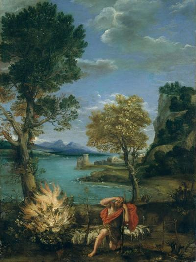 Landscape with Moses and the Burning Bush, 1610-16-Domenichino-Giclee Print