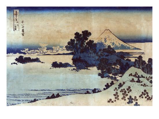 Landscape with Mount Fuji in the Background, Japanese Wood-Cut Print-Lantern Press-Art Print