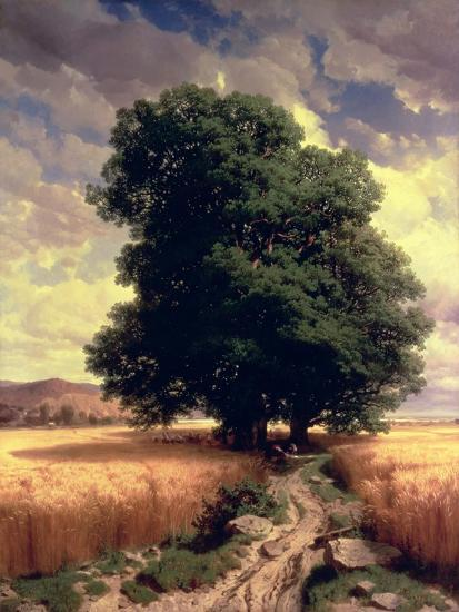 Landscape with Oaks, 1859-Alexandre Calame-Giclee Print
