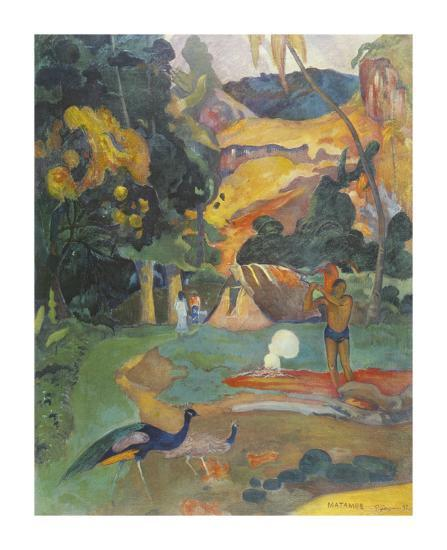 Landscape with Peacocks-Paul Gauguin-Premium Giclee Print