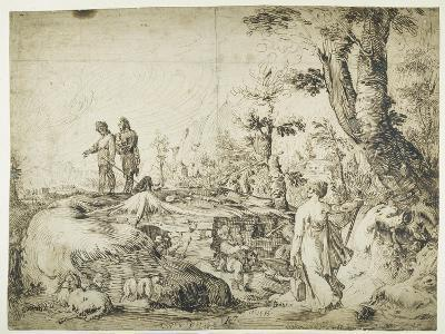 Landscape with Peasants by a Hut, 1593-Hendrik Goltzius-Giclee Print