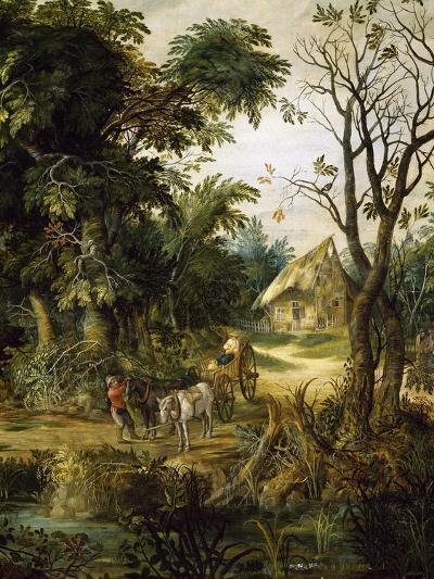 Landscape with Peasants-Kerinex Alexander-Giclee Print