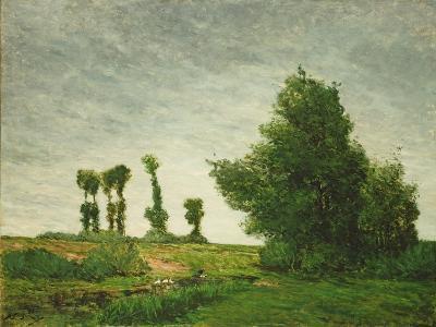 Landscape with Poplars, 1875-Paul Gauguin-Giclee Print