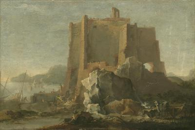 Landscape with Rock and Fortress, C.1640-50-Domenico Gargiulo-Giclee Print