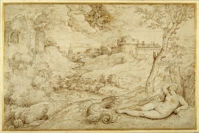 Landscape with Roger and Angelica, from 'Orlando Furioso', X, after Titian-Domenico Campagnola-Giclee Print