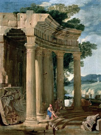 Landscape with Ruins and a Shepherd-Jean Lemaire-Giclee Print