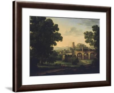 Landscape with Ruins and Wayfarers, 1812-Rosa Mezzera-Framed Giclee Print