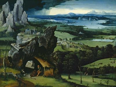 Landscape with Saint Jerome, 1516-1517-Joachim Patenir-Giclee Print