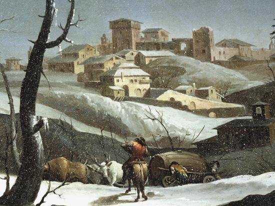 Landscape with Snow-Andrea Urbani-Giclee Print
