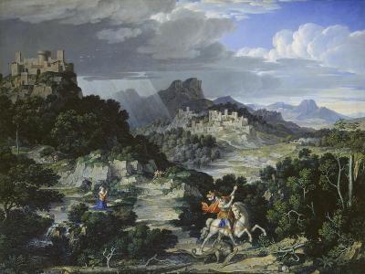 Landscape with St, George, 1807-Joseph Anton Koch-Giclee Print