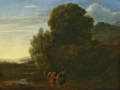 Landscape with St John the Baptist-Claude Lorraine-Giclee Print