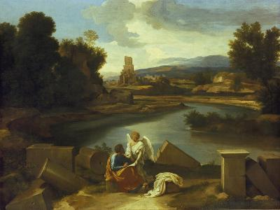 Landscape with St, Matthew, 1640-Nicolas Poussin-Giclee Print