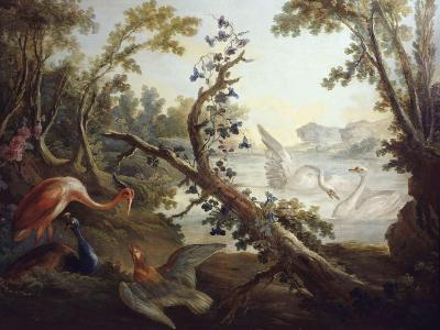 Landscape with Swans, C.1765, North Wall of the Salon Demarteau-Jean-Honor? Fragonard-Giclee Print
