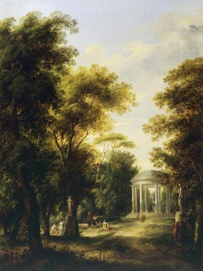 Landscape with Temple-Giovanni Barbieri-Giclee Print