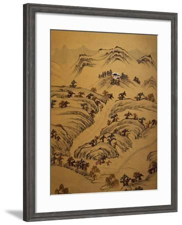 Landscape with Temple--Framed Giclee Print