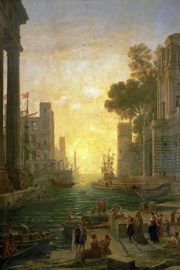Landscape With the Embarkment of Saint Paula Romana In Ostia, 1639-1640-Claude Lorraine-Giclee Print