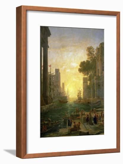 Landscape With the Embarkment of Saint Paula Romana In Ostia, 1639-1640-Claude Lorraine-Framed Giclee Print