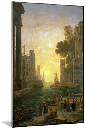 Landscape With the Embarkment of Saint Paula Romana In Ostia, 1639-1640-Claude Lorraine-Mounted Giclee Print