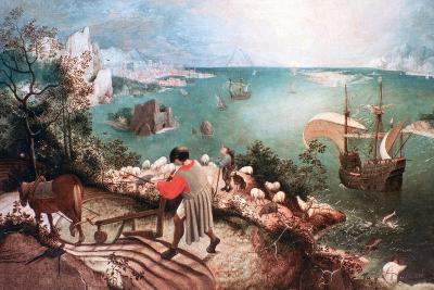 Landscape with the Fall of Icarus, C1555-Pieter Bruegel the Elder-Giclee Print