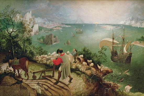 Landscape with the Fall of Icarus, circa 1555-Pieter Bruegel the Elder-Giclee Print