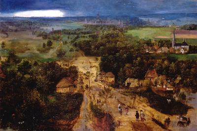 Landscape with the Flight into Egypt, C.1530-Jan van Amstel-Giclee Print