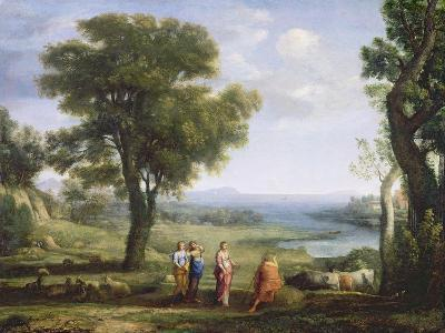 Landscape with the Heliads Searching for their Brother Phaeton-Claude Lorraine-Giclee Print