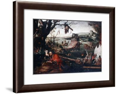 Landscape with the Parable of Saint Christopher, Early16th Century-Jan Mandyn-Framed Giclee Print