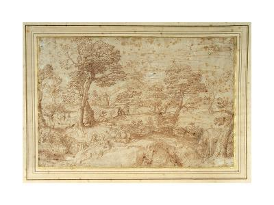 Landscape with the Rest on the Flight from Egypt, after Annibale Carracci-Annibale Carracci-Giclee Print
