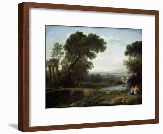 Landscape with the Rest on the Flight into Egypt (Midda), 1661-Claude Lorraine-Framed Giclee Print
