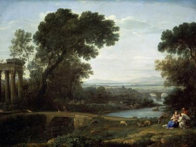 Landscape with the Rest on the Flight into Egypt (Midda), 1661-Claude Lorraine-Giclee Print