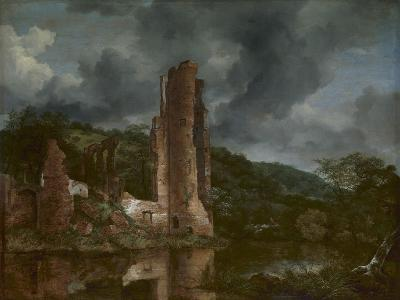 Landscape with the Ruins of the Castle of Egmond, 1650-55-Jacob van Ruisdael-Giclee Print
