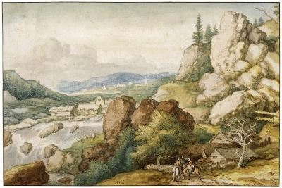 Landscape with Three Horsemen, 17th Century-Allart van Everdingen-Giclee Print