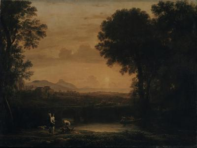 Landscape with Tobias and the Angel, 1663-Claude Lorraine-Giclee Print