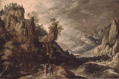 Landscape with Tobias and the Angel-Kerstiaen de Keuninck-Giclee Print