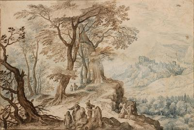 Landscape with Tobias and the Angel-Jan Brueghel the Younger-Giclee Print