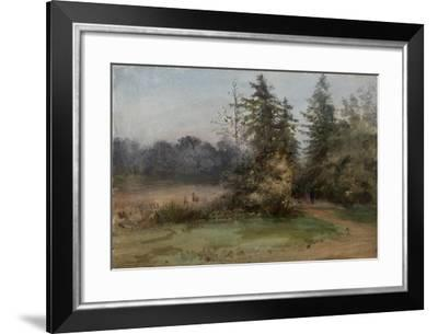 Landscape with Two Figures-Albert Nikolayevich Benois-Framed Giclee Print