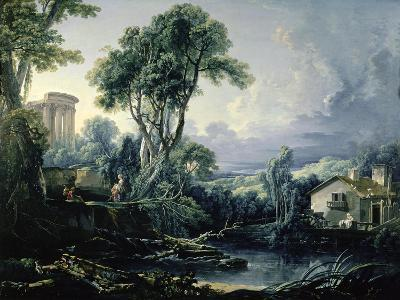 Landscape with Water Mill, 1743-Francois Boucher-Giclee Print