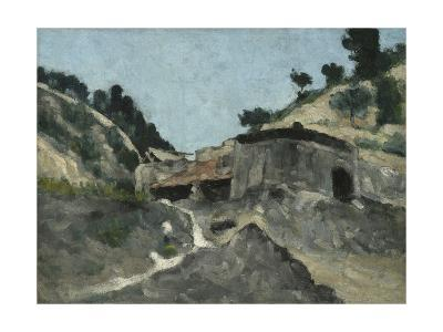 Landscape with Water Mill, C.1871-Paul C?zanne-Giclee Print