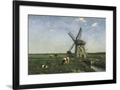 Landscape with Windmill Near Schiedam, 1873-Hendrik Johannes Weissenbruch-Framed Giclee Print