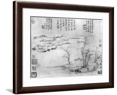 Landscape- Ni Zan Or Ni Tsan-Framed Giclee Print