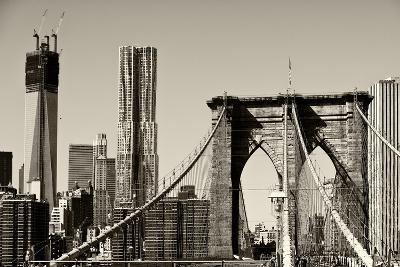 Landscapes - Brooklyn Bridge - New York - United States-Philippe Hugonnard-Photographic Print