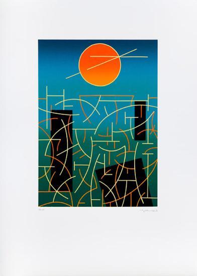Landschaft 92-Ludwig Gebhard-Limited Edition