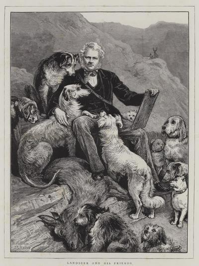 Landseer and His Friends--Giclee Print