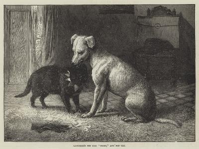 Landseer's Pet Dog Tiney, and Pet Cat-Ebenezer Newman Downard-Giclee Print