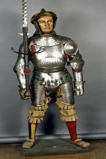 Landsknecht Infantryman Armor in Steel, Made in Southern Germany, 1510-1520, Germany, 16th Century--Giclee Print