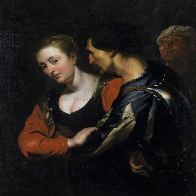 Landsknecht with a Woman-Theodor Rombouts-Giclee Print