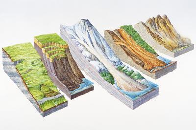 Landslide Types-Gary Hincks-Photographic Print