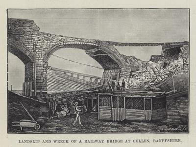 Landslip and Wreck of a Railway Bridge at Cullen, Banffshire--Giclee Print