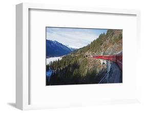Landwasser Viaduct, Bernina Express Railway Line, UNESCO World Heritage Site-Christian Kober-Framed Photographic Print