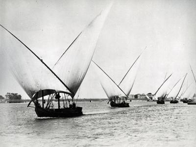 Sailing on the Nile, C.1880 by Langaki